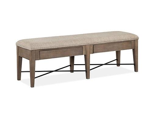 Helena Grey Upholstered Bench