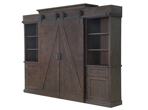 Gregory Rustic Pine Wall Unit