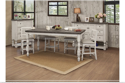Skyler Fluted Counter Height Dining Collection