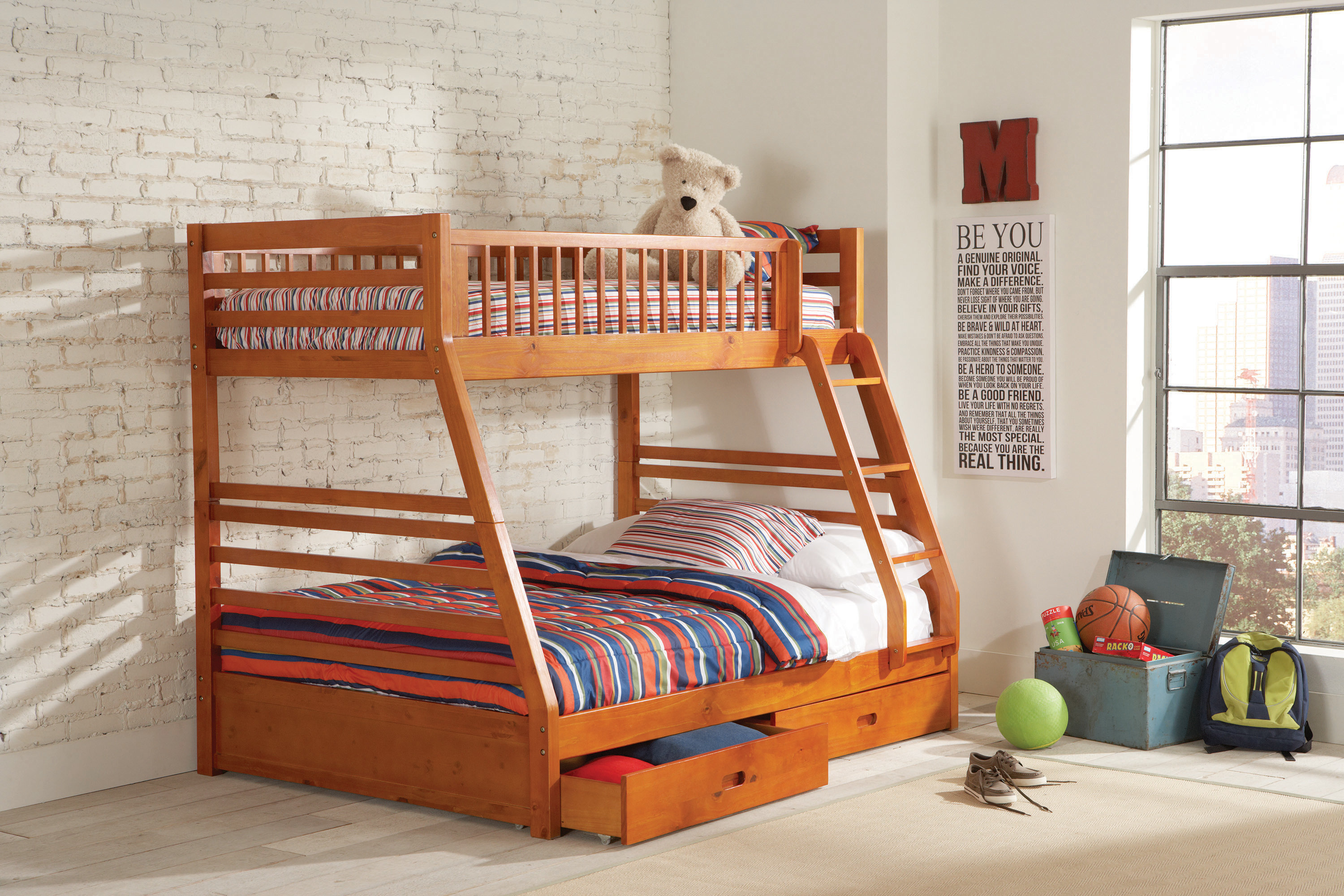 Image result for wood bunk beds twin over full