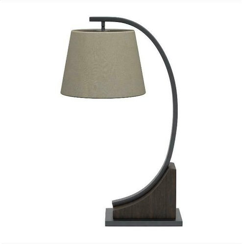 Oatmeal Brown Orb Table Lamp