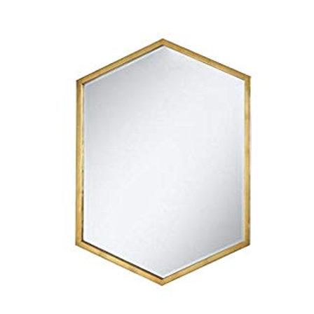 Hexagon Shaped Wall Mirror