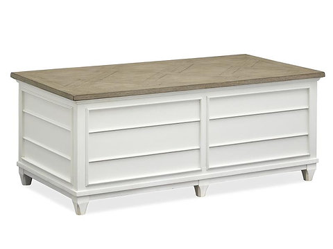 Alyssa White Lift Top Storage Coffee Table Furniturelady