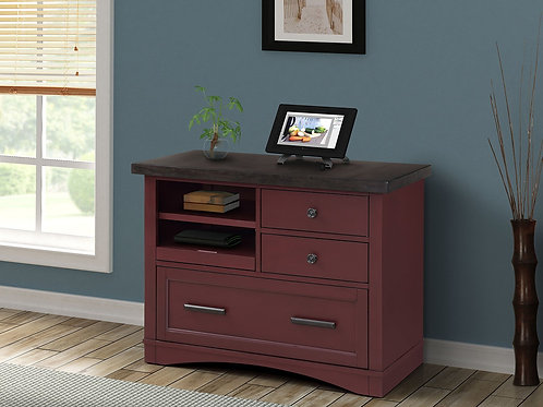 Amber Cranberry File Cabinet