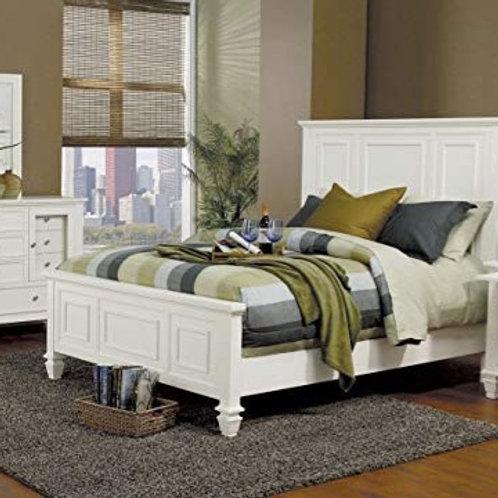 Glenmore White Panel Bed