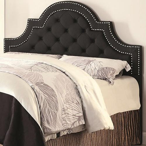 Olivia Grey Upholstered Headboard