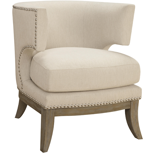 Barrel Cream Accent Chair