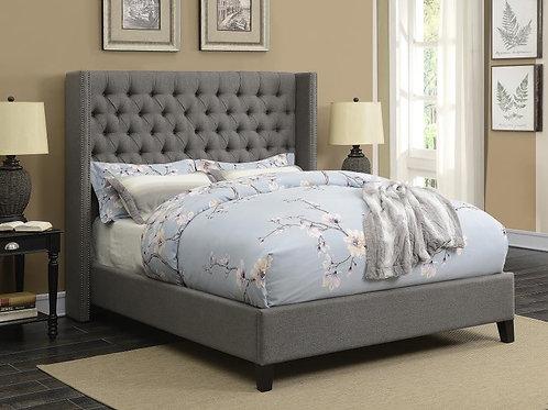 Bentley Grey Upholstered Bed