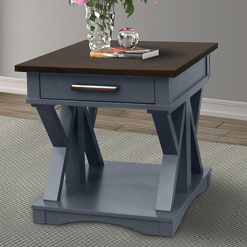 Amber Blue End Table