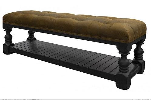 Skyler Black Upholstered Bench
