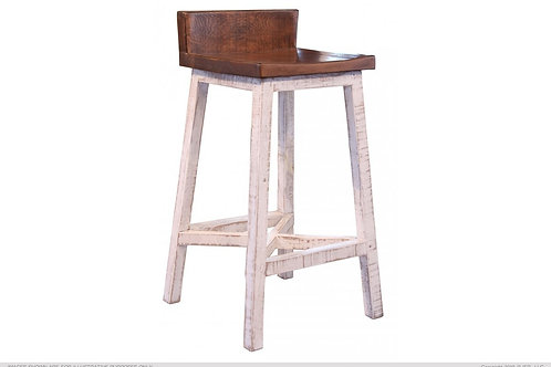 Stella Half-Back Bar Stool
