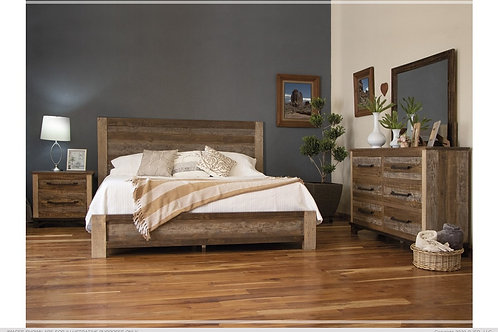 Golden Wood Bed