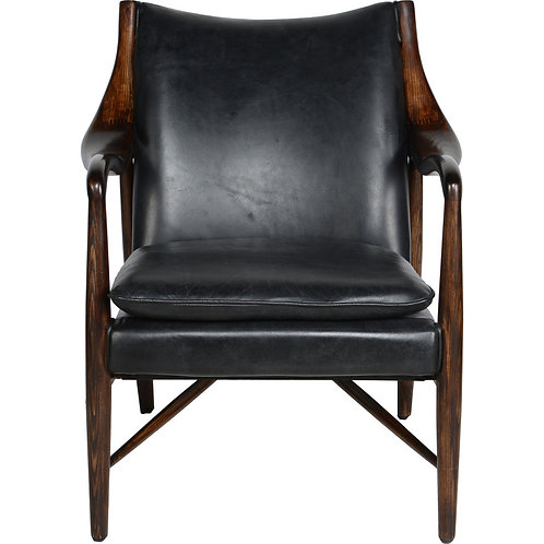 Kian Black Accent Chair