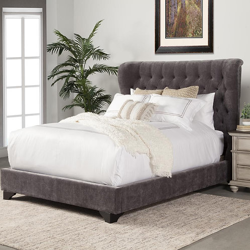 Charlie Grey Upholstered Bed