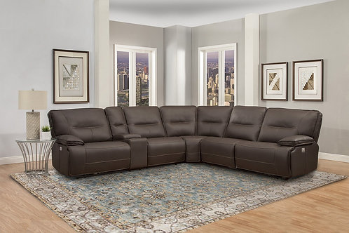 Spartan Chocolate Reclining Sectional