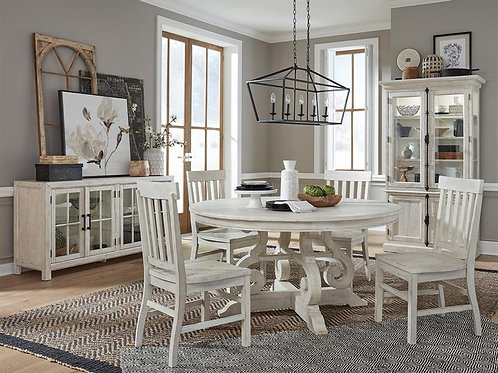 "Boston White Round Dining Table (48""& 60"")"
