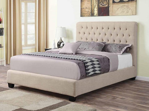 Courtney Cream Upholstered Bed