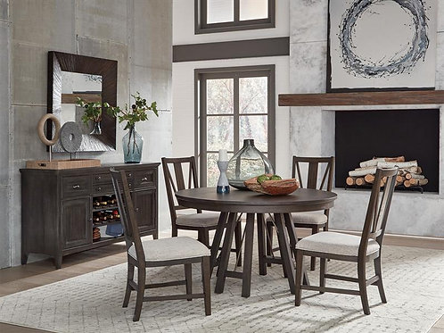Helena Graphite Round Dining Collection