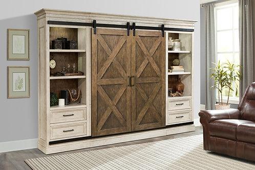 Sarah X Barn Door Wall Unit