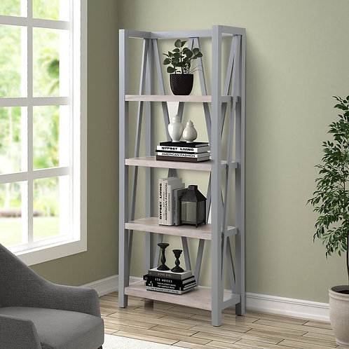 Amber Grey Bookcase