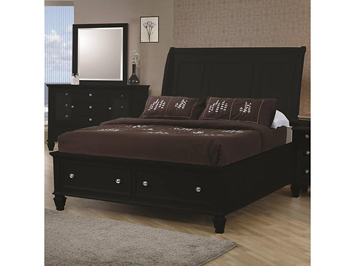 Glenmore Black Storage Bed