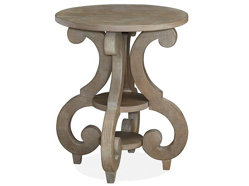 Boston Grey 2 Round End Table