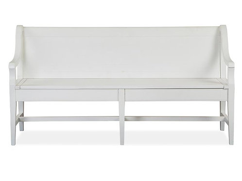 Helena Chalk Bench with Back
