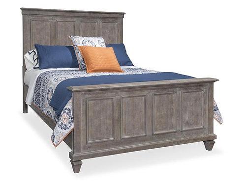 Cal Grey Wood Bed