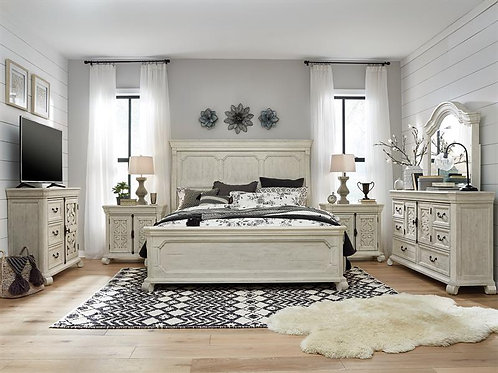 Boston White Bedroom Collection