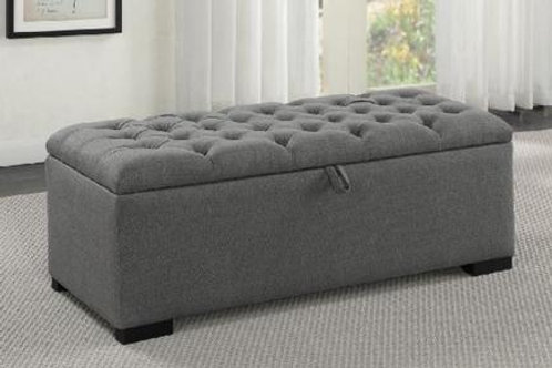 Sophie Grey Upholstered Storage Bench