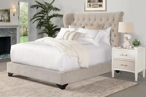 Charlie Cream Upholstered Bed