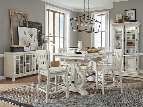 Boston White Counter Height Dining Collection