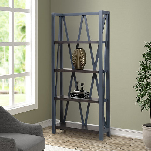 Amber Blue Bookcase