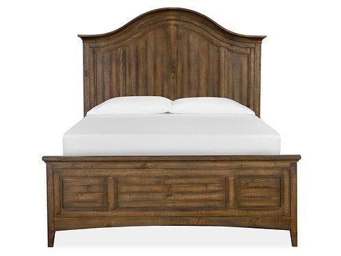Helena Nutmeg Wood Arched Storage Bed