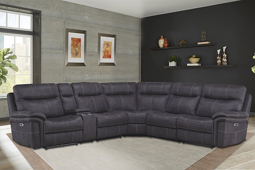 Maylee Charcoal Reclining Sectional