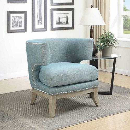 Barrel Blue Accent Chair