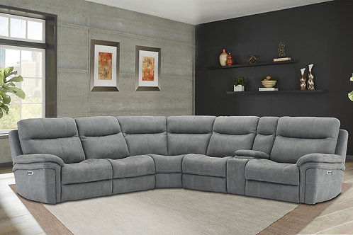 Maylee Carbon Reclining Sectional