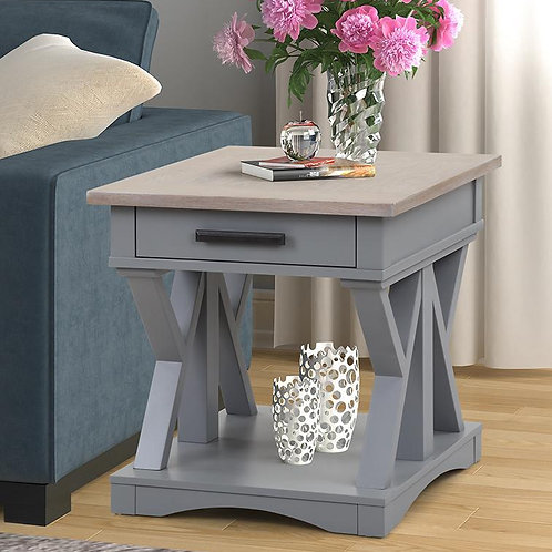 Amber Grey End Table