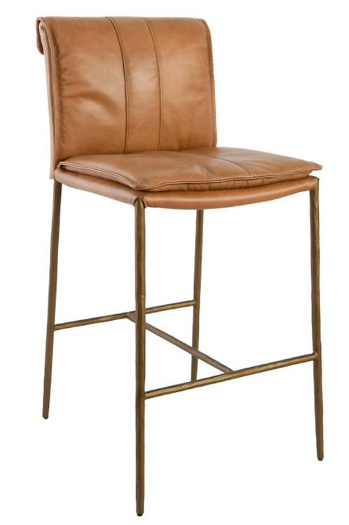 May Leather Counter Stool