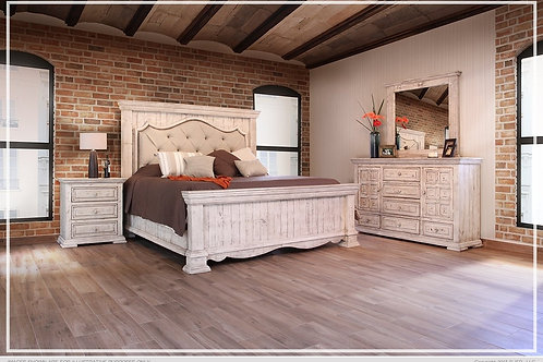 Francesca Upholstered Wood Bed