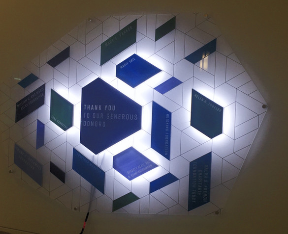 Acrylic layered plates with LED lighting