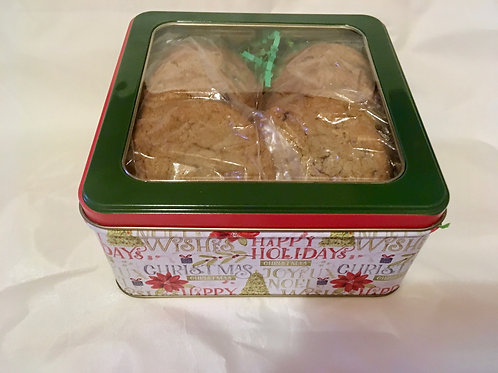 1 # Holiday/Christmas Gift Box of Chocolate Chip Cookies