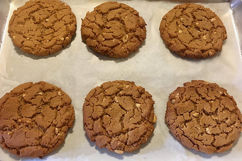 6 Giant peanut Butter Cookies