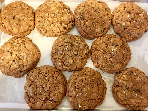 6 Giant Butterscotch Salted Pretzel Cookies