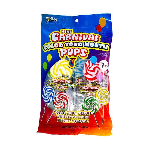 Mini Carnival Color Your Mouth Pops