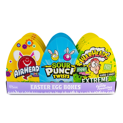 Easter Egg Boxes with Assorted Candy