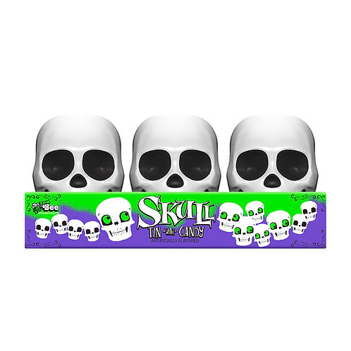 Skull Tins with Smarties
