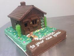Chocolate House on a Rice Krispy Bas