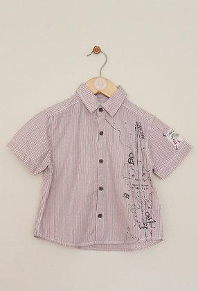 Obaibi striped short sleeved shirt (age 2)