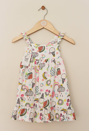 BNWT F&F white sundress with bright print (age 9-12 months)
